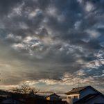 立春の日の夕暮れ