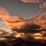 台風が去った後の夕焼け