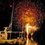 漁港の花火大会